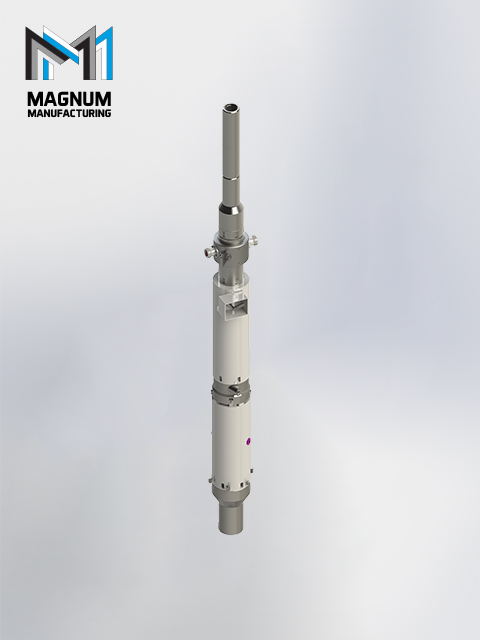 The patent pending Rotating Cement Head manufactured by Magnum Mfg.
